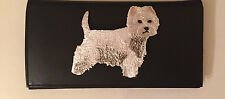 West Highland White Terrier Leather Checkbook Cover Westie Dog Breed Gifts