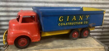 "Vtg 40s 50s Wyandotte Lines Giant Construction Co Pressed Steel 19"" Dump Truck"