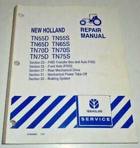 "New Holland TN55D-TN75D TN55S-TN75S Tractor ""AXLES PTO & BRAKES"" Repair Manual"