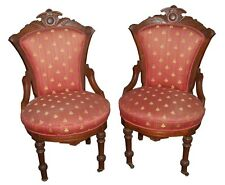 Pair of Eastlake Victorian Side Chairs, 1800-1899 #5161