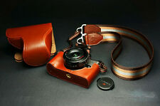Handmade Genuine real Leather Full Camera Case bag Panasonic GX-1 14-42 X lens