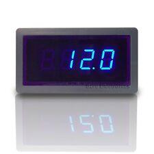 "3 1/2 Mini 0.5"" 3½ DC 50A Blue LED Digital AMP Panel Meter + Shunt Ampmeter"