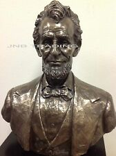 NEW Larg Abraham LINCOLN Bust Statue Sculpture Figurine Bronze FAST SHIPPING