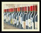 FRAMED Splendid Reds - Wine Bottles Lined Up by Marco Fabiano 40x30 Print Matted