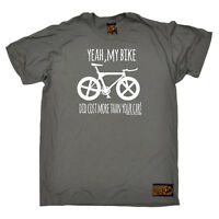 Cycling T-Shirt Funny Novelty Mens tee TShirt - Yeah My Bike Did Cost More