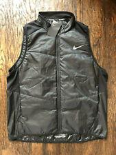 Nike Running Men's Polyfill Full Zip Vest - Black - Medium (689475-010) $80 NWT