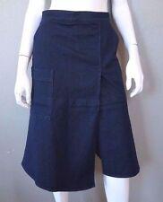 Denim A-Line Knee-Length Regular Size Skirts for Women