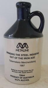 Metalink Tubemakers 1987 Steel Industry 750ml Elischer Pottery Ceramic Port Jug
