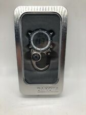 Dakota Watch Digi Clip with Plastic Carabiner Moonglow Silver New
