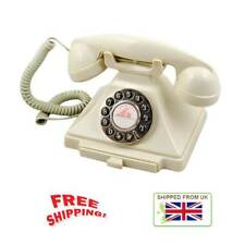 Old Fashioned Phone Antique Desk Classic Ivory Telephone Retro Vintage Nostalgic
