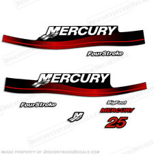 Mercury 25hp Fourstroke Bigfoot Outboard Decals - Reproductions in Stock! RED
