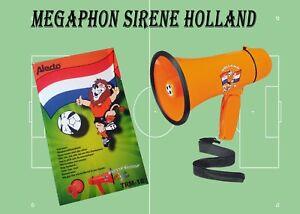 Fan Megaphone Sirene Alecto Tröte Sprachrohr Megafon Holland Lautsprecher WM Neu