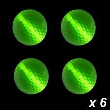 Glow Golf Balls Green x 6
