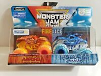 2019 Monster Jam Fire And Ice WalMart Exclusive Max-D And Monster Mutt 1 64