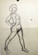 NUDES Pencil and ink drawings on both sides of paper by U/K Russian artist