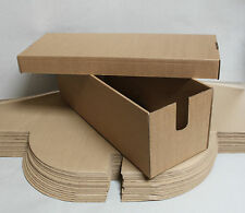 20 X Cardboard Boxes With Lid - 59 x 21 x 20 cm Strong Re-usable Shoe Box Style