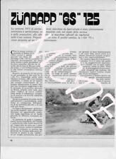 advertising Pubblicità brochure  - TEST MOTO ZUNDAPP GS 125 1973-REGOLARITA '