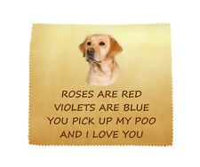 Labrador Retriever (Yellow) I LOVE YOU Microfibre Cloth Fun Gift FROM THE DOG