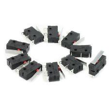 10 Stueck AC 125V 5A SPDT 1NO 1NC Glatt Hinge Lever Mini Micro-Schalter GY P0S5