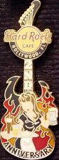 Hard Rock Cafe HOLLYWOOD FL 2006 2nd Anniversary PIN Sexy Server on Guitar 32443