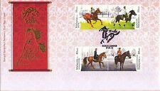 Malaysia 2014 Horses FDC