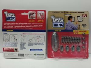 NEW!!! Hampton Direct - Insta Hang Refill Kit, 33 Piece Set! 2 PACKAGES!!