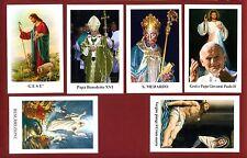 013- LOTTO 6  SANTINI -IMAGE PIUSE  HOLY CARD - SANTINO