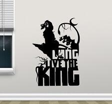 Lion King Simba Wall Decal Long Live The King Vinyl Sticker Decor Mural 51crt