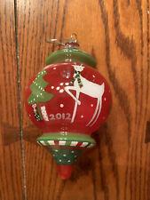 Noble Gems Hand-Crafted Glass Reindeer/Christmas Tree Ornament 2012 Kurt Adler