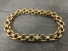 18K Yellow Gold Double Chain Link Bracelet