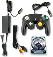 Gamecube Parts Bundle With Controller, Power Adapter, Memory Card and AV Cable