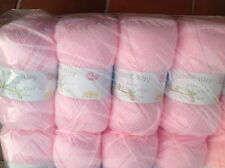 JAMES C BRETT PINK SUPER SOFT DOUBLE KNITTING BABY WOOL 4X100G YARN SHADE BB6