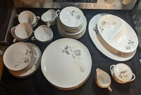 50pc Lori by Sango Fine China rose Design Dinnerware serving for 4 + extras