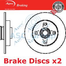2 X Apec BRAKING 249mm Solide Original Qualität Ersatz Bremsscheiben ( Paar