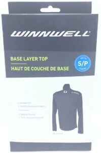 Winnwell Youth Base Layer Top Hockey Fit Soft Performance Fabric Size S Black