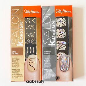 AU NEW Sally Hansen K.Design Nail Sticker/ Nail Design Set Pack - Wire & Diamond