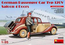 MINIART 38008 German Passenger Car Type 170V Saloon 4-Door w/1 Figure in 1:35