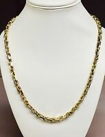 """14kt Solid Yellow Gold Handmade Link Men's Chain/Necklace 30"""" 95 grams 5.5MM"""