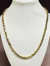 "14kt Solid Yellow Gold Handmade Link Men's Chain/Necklace 30"" 95 grams 5.5MM"