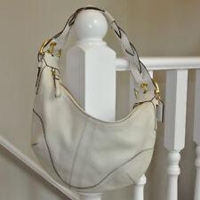 Coach 10043 Soho Hobo Shoulder Handbag Purse Cream White Leather