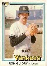1981 Donruss  #227 Ron Guidry  --  NEAR MINT  --  New York Yankees Baseball