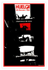 Cuban Poster.HUELGA.On Strike.Eisenstein film art.Graphic design..Collectible