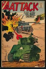 ATTACK No. 3 1966 Charlton War Comic Book TOO MANY ENEMIES 4.0 VG
