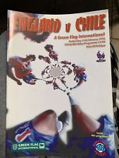 1998 England V Chile Wembley Football/soccer Programme