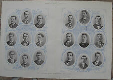 1895 Large Antique Print- Oxford and Cambridge Boat Race - The Crew Portraits