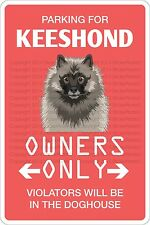 Metal Sign Parking For Keeshond 8� x 12� Aluminum Ns 446
