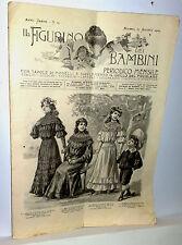 IL FIGURINO DEI BAMBINI con tavole di modelli 1905