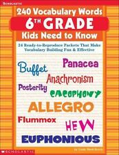 240 Vocabulary Words: 6th Grade Kids Need to Know