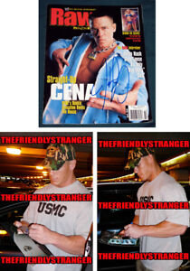 "Rare JOHN CENA signed Autographed WWE ""RAW"" MAGAZINE - PROOF Full Signature COA"
