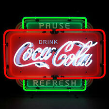 Coca Cola Pause Refresh Neon Sign
